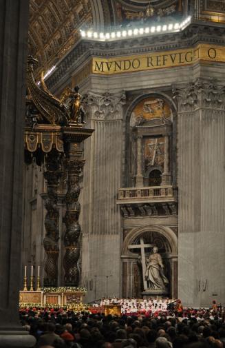 St. Peter's Vatican height perspective