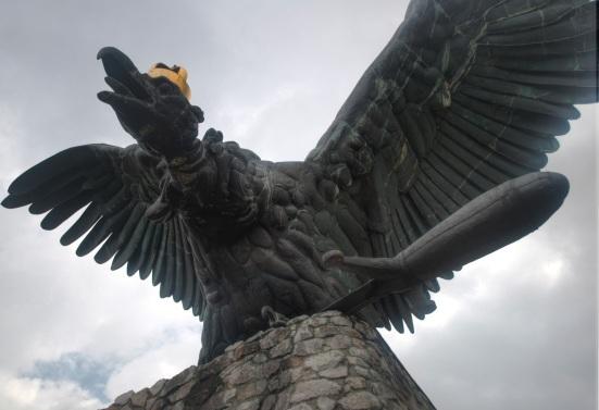 Turul Statue Tatabanya Hungary