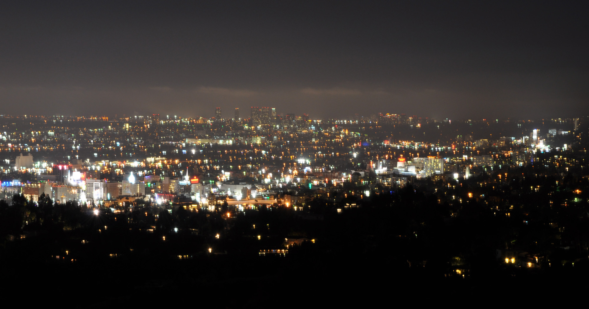 downtown Los Angeles Hollywood skyline night | Life's Next ...